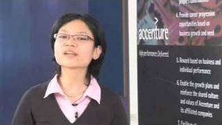 Suehlan talks about the work environment at Accenture