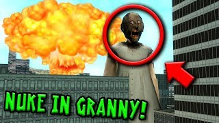 Can GIANT GRANNY Survive a NUCLEAR EXPLOSION in Granny Horror Game... (Gmod Granny Horror Game)