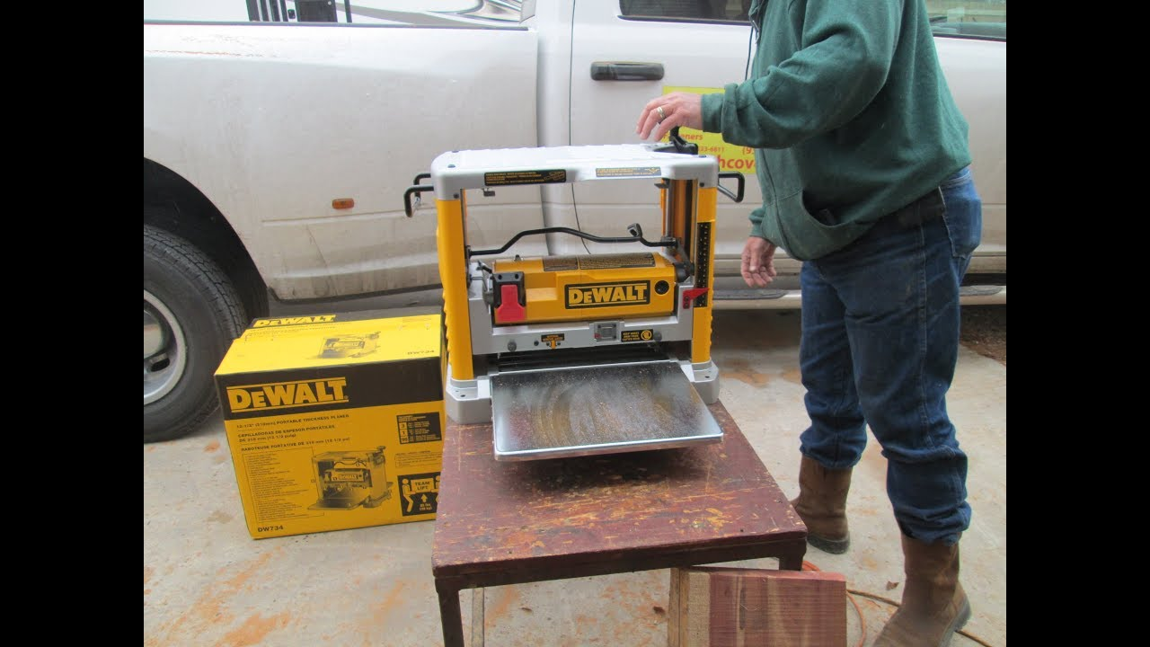 Dewalt DW734 Thickness Planer Thoughts and Reviews