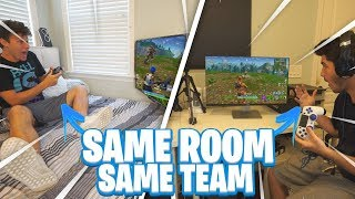 Teaming on Fortnite in the same room... thumbnail