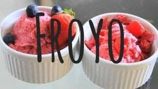 ♡ How To Make Frozen Yogurt (easy) ♡