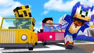Massi Y Elyas En La Carrera Contra Sonic En Minecraft 😱