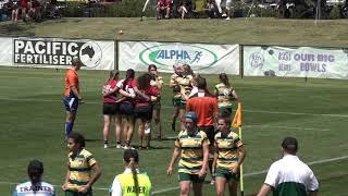 2018 Girls Rugby 7's State Titles - Game ... U17 Darling Downs v Brisbane Red