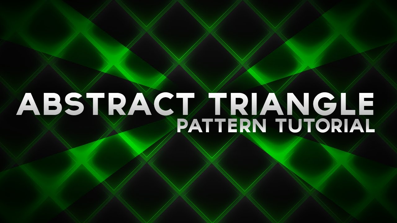 Photoshop Tutorial: Abstract Triangle Pattern