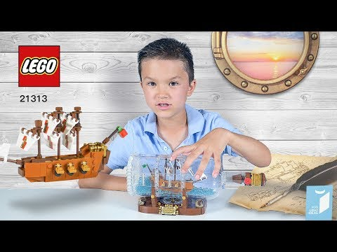 Kid review Lego Ideas 21313 Ship in a Bottle - For Kids