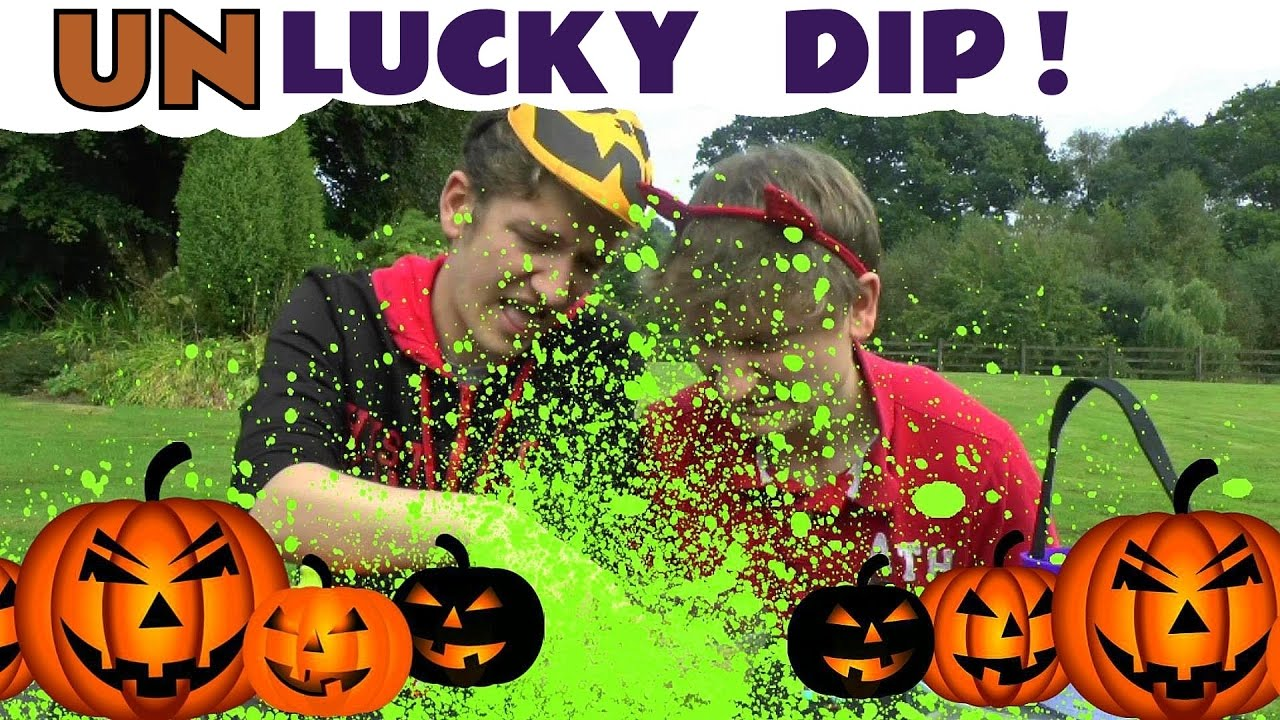 halloween games for kids un lucky dip challenge with pea water and surprise toys family fun tt4u youtube