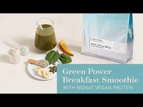 MONAT Recipe | Green Power Breakfast Smoothie | MONAT Vegan Protein