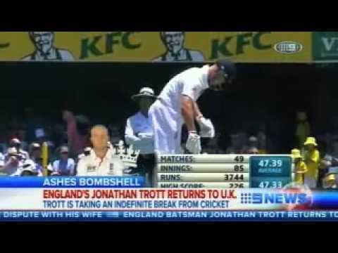 England have lost No3 batsman Jonathan Trott to a stress-related illness