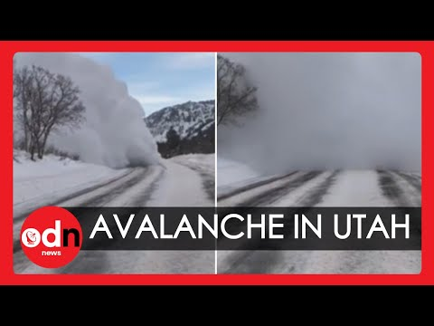 Terrifying Avalanche Caught On Camera East Of Salt Lake City