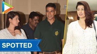 SPOTTED: Akshay kumar and Twinkle Khanna at Juhu PVR