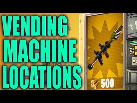 Fortnite  - ALL VENDING MACHINE LOCATIONS!