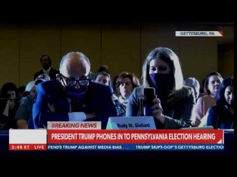 "PA Crowd APPLAUDS President Trump and Rudy Giuliani -- Starts Chanting, ""Trump! Trump! Trump!.."