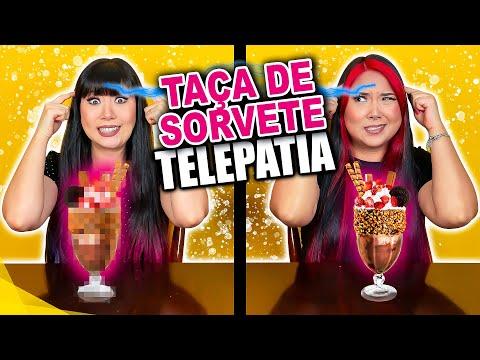 TAÇA DE SORVETE POR TELEPATIA!! - BLOG DAS IRMÃS
