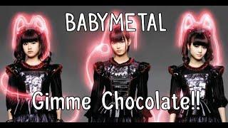BABYMETAL - Gimme chocolate!! (lyrics Kanji-English + Moametal birthday!)