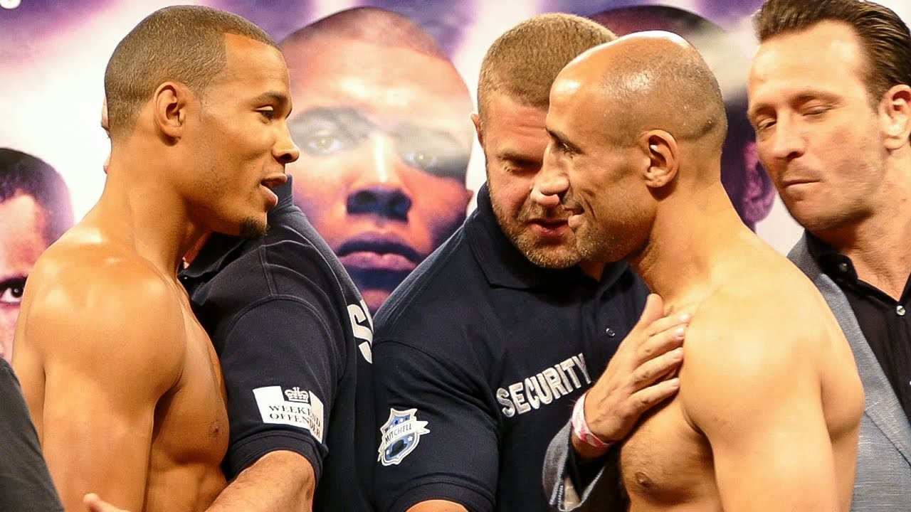 "CHRIS EUBANK JR ""HEATED TRASH TALK"" FACE OFF vs ARTHUR ..."