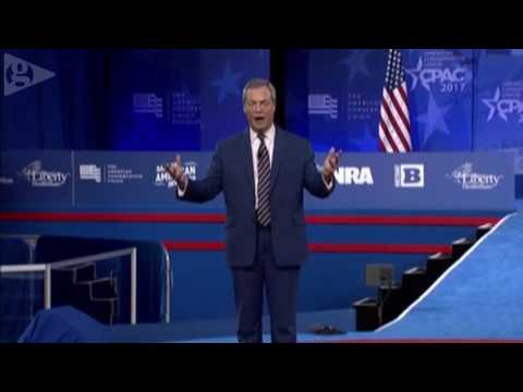 Nigel Farage addresses CPAC 2017 - live
