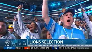 Detroit Lions Draft RB Kerryon Johnson - 2018 NFL Draft Second Round! (Announced By Nate Burelson!)