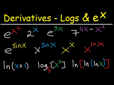 Derivatives of Exponential Functions  Logarithmic Differentiation