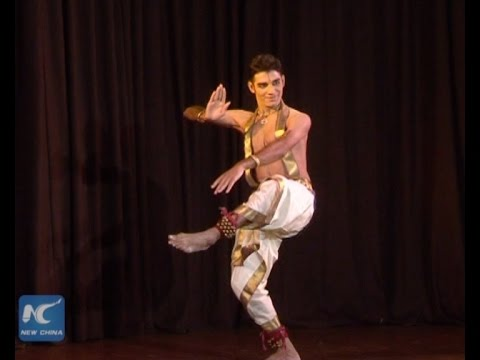 Male classical dancer in India