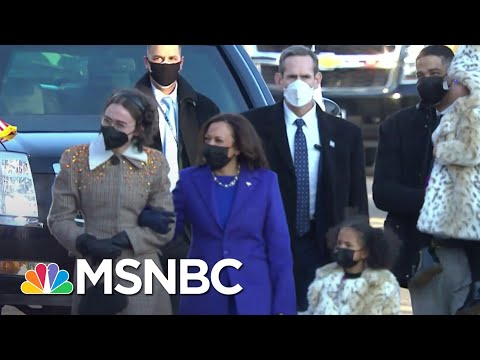 Harris Walks To The White House For First Time As Vice President | MSNBC