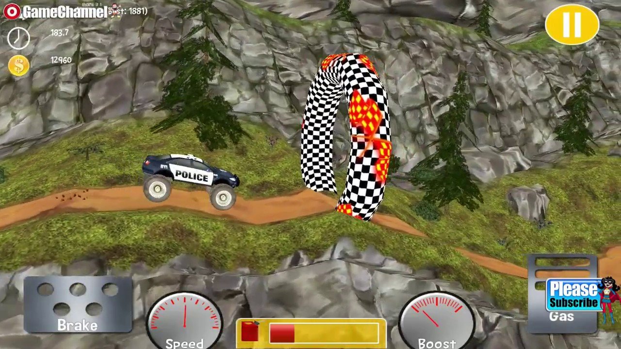 Monster Truck Racing Free / Monster Stunt Car Driver / Android ...