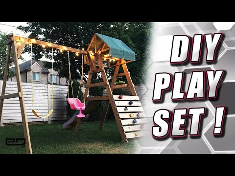 How To Build A Backyard Playset / Swingset ! All Wood, No Brackets Or Kits Necessary!