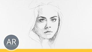 Einfache Schnellportraits. Lerne schnell Gesichter zeichnen. Zeichenkurse Akademie Ruhr