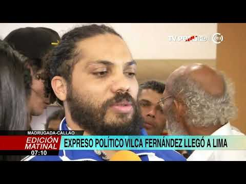 Vilca Fernández Llega A Lima Tras Ser Excarcelado