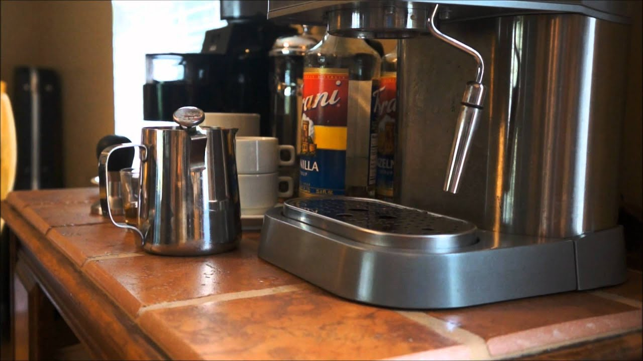 hazelnut latte using gaggia baby twin youtube. Black Bedroom Furniture Sets. Home Design Ideas