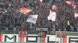 Il tifo Cremonese nel derby contro Piacenza, Lega Pro 2016-17