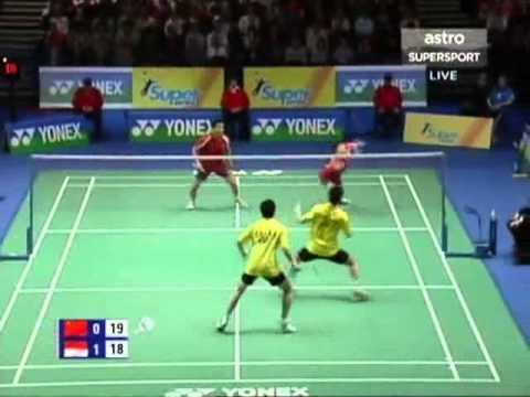 all england open 2007 Yun CAI Haifeng FU vs Candra WIJAYA Tony GUNAWAN All England Open 20071