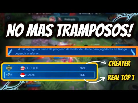 NUEVO PARCHE ANTI TRAMPOSOS! BANEO INSTANTANEO A TOPS GLOBALES | MOBILE LEGENDS