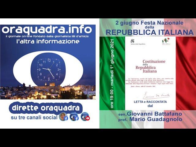La Costituzione Italiana letta da un Senatore e da un già Sindaco di Taranto