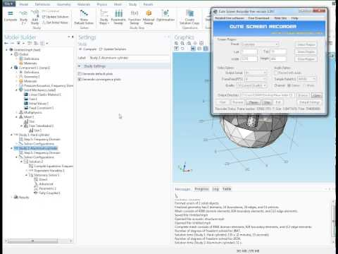 COMSOL Multiphysics tutorial Acoustic structure interaction