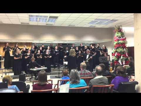Meridian Community College Concert Choir beautifully singing Silent Night