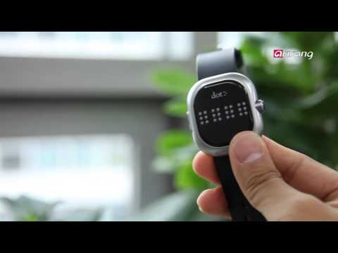 How a Braille Enabled Smartwatch Lets Users Feel the Time