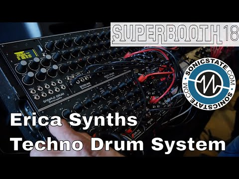 Superbooth 2018: Erica Synths Techno Drum System - Loads of New Pounding Drum Modules!