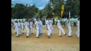 Benison English School parade practice2012