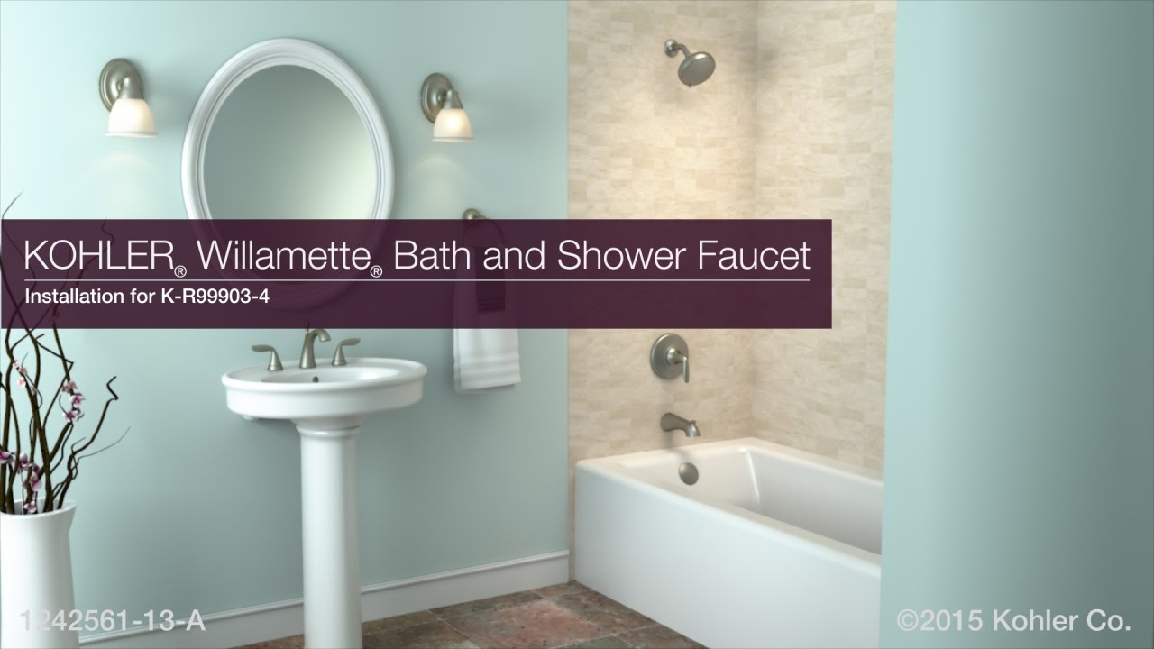 Installation - Willamette Bath and Shower Faucet - YouTube