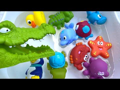Crocodile Attack! Learn Sea Animal Ocean Animal in English 악어 공격! 해양 동물 해양 동물을 영어로 배우십시오