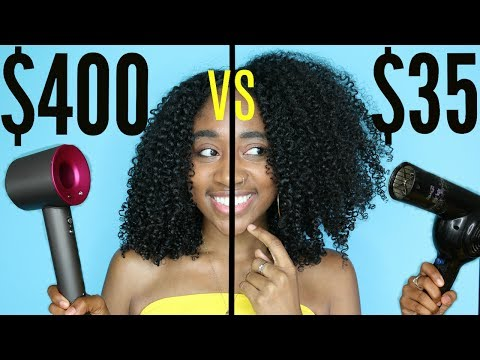 $400 vs $35 Hair Dryer: Is there a Difference?| Curly Natural Hair