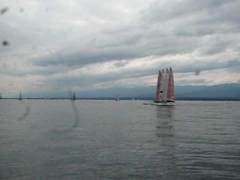 Catamaran Puissance 4 1er test nav 1.AVI