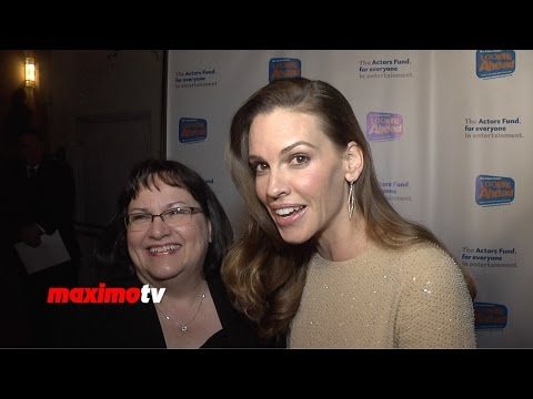 Hilary Swank & Judy Swank   Looking Ahead Awards 2014  Red Carpet