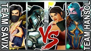Team Savix vs Team Hansol 5v5 1v1 Wargame