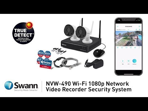 Swann NVR NVW-490 Security System Product Overview 1080p Full HD 2-way audio thermal sensing Wifi