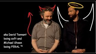 Michael Sheen and David Tennant acting like each other's characters IRL