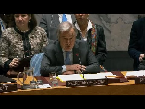 António Guterres (UN Secretary-General) on the situation in