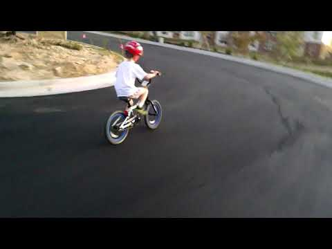 Racing around the apartment complex