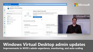 Windows Virtual Desktop updates for admins (2020)