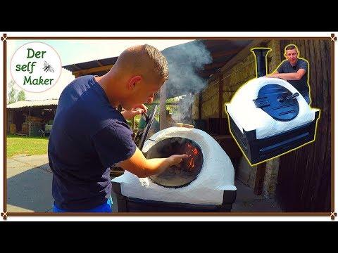 steinofen pizzabackofen selber bauen schnell und einfach teil 1 2 youtube. Black Bedroom Furniture Sets. Home Design Ideas